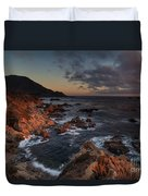 Pacific Coast Golden Light Duvet Cover by Mike Reid
