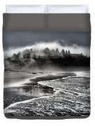 Pacific Island Fog Duvet Cover by Adam Jewell