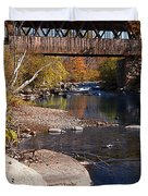 PACKARD HILL BRIDGE Lebanon New Hampshire Duvet Cover by Edward Fielding