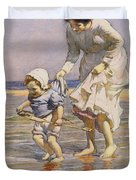 Paddling Duvet Cover by William Kay Blacklock
