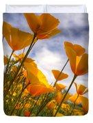 Paint The Desert With Poppies Duvet Cover by Saija  Lehtonen