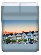 Painted Ladies Duvet Cover by Bill Gallagher