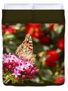 Painted Lady Butterfly Duvet Cover by Eyal Bartov