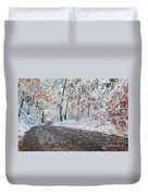 Painted Snow Duvet Cover by Catherine Reusch  Daley