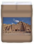 Palace Tomb In Nabataean Ancient Town Petra Duvet Cover by Juergen Ritterbach