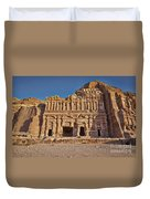 Palace Tombin Nabataean Ancient Town Petra Duvet Cover by Juergen Ritterbach