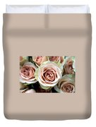 Pale Pink Roses Duvet Cover by Kathy Yates