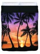 Palm Beach Sundown Duvet Cover by Andrew Farley
