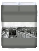 Panama Canal Construction 1910 Duvet Cover by Photo Researchers
