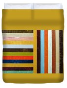 Panel Abstract L Duvet Cover by Michelle Calkins
