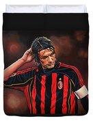 Paolo Maldini Duvet Cover by Paul Meijering
