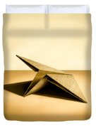 Paper Airplanes of Wood 7 Duvet Cover by Yo Pedro