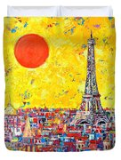 Paris In Sunlight Duvet Cover by Ana Maria Edulescu
