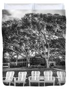 Park under the Oaks Duvet Cover by Debra and Dave Vanderlaan