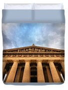 Parthenon From Below Duvet Cover by Dan Sproul