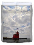 Partly Cloudy Duvet Cover by Michelle Calkins