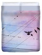 Party Line Duvet Cover by Amy Tyler