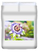 Passiflora Or Passion Flower Duvet Cover by Semmick Photo