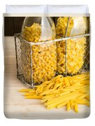 Pasta Shapes Still Life Duvet Cover by Edward Fielding