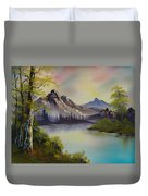 Pastel Skies Duvet Cover by C Steele
