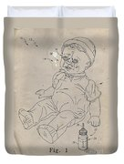 Patent For Crying Baby Doll Duvet Cover by Edward Fielding