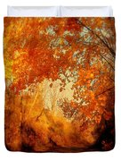 Path Of Gold Duvet Cover by Tami Quigley