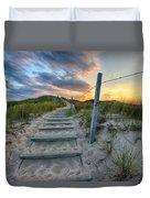 Path Over The Dunes Duvet Cover by Sebastian Musial
