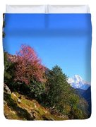 Path To The Mountains Duvet Cover by FireFlux Studios