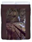 Pato To Ash Cave In Winter Duvet Cover by Dan Sproul