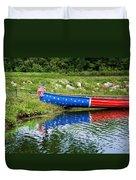 Patriotic Canoe #1 Duvet Cover by Nikolyn McDonald