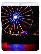 Patriotic Ferris Wheel Duvet Cover by Kym Backland