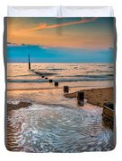 Patterns On The Beach  Duvet Cover by Adrian Evans