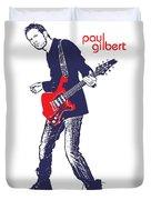 Paul Gilbert No.01 Duvet Cover by Caio Caldas