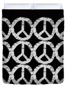Peace In Black And White Duvet Cover by Michelle Calkins