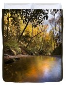 Peace Like A River Duvet Cover by Debra and Dave Vanderlaan