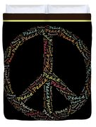 Peace Symbol - 0202 Duvet Cover by Variance Collections