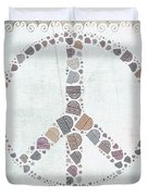 Peace Symbol Design - s76at02 Duvet Cover by Variance Collections