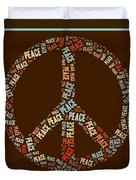 Peace Symbol Retro - 0103b  Duvet Cover by Variance Collections
