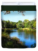 Peaceful Lake Duvet Cover by Susan Savad