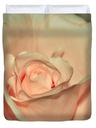 Peaches And Cream Duvet Cover by Kaye Menner