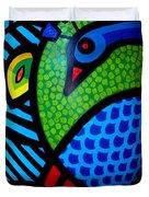 Peacock Egg II  Duvet Cover by John  Nolan