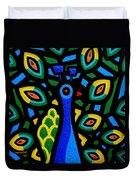 Peacock IIi Duvet Cover by John  Nolan
