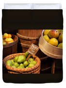 Pears - 15 Cents Per Basket Duvet Cover by Christine Till