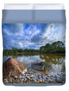Pebble Beach Duvet Cover by Debra and Dave Vanderlaan