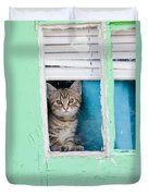 Peek-a-boo Duvet Cover by Jean Haynes