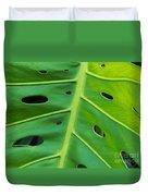 Peekaboo Leaf Duvet Cover by Ann Horn