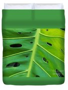 Peekaboo Leaf Duvet Cover by Ann Horn