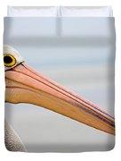Pelican Profile Duvet Cover by Mike  Dawson