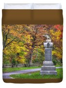 Pennsylvania At Gettysburg - 115th Pa Volunteer Infantry De Trobriand Avenue Autumn Duvet Cover by Michael Mazaika