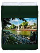 Pentwater Channel Michigan Duvet Cover by Nick Zelinsky